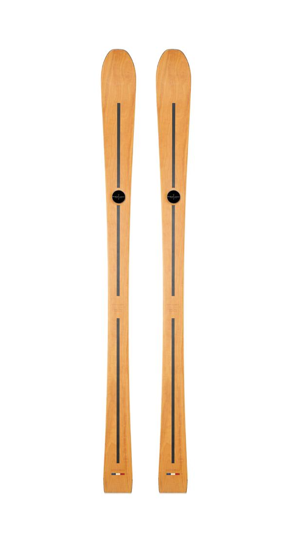 wooden skis for wooden, handmade ski maryse, wooden skis